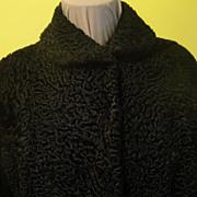 Ultimate Swing Persian Lamb Coat with Turn Back Cuffs