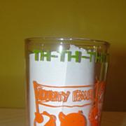 ''Th - th - th - that's all Folks'' Warner Bros 1974 Jelly Jar Glass