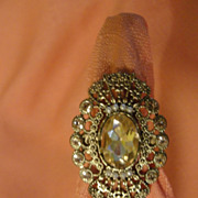 Fancy Filigree Costume ring Size 7 - Free shipping