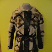 Madly Modern Leather and fur Belted Coat