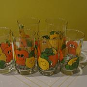 Nancy Lynn Silly Fruit Drinking Glasses - b121