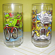 Happiness Hotel and Kermit on Bike McDonald's Glasses - b125