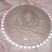 Bead and Ringed Glass Ceiling Shade - b128