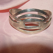 Open Work Mexican Silver Bracelet - Free shipping