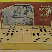 SOLD Pleasantime Opaline Domino Set - B136