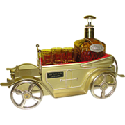 ''The Solid Gold Cadillac'' Decanter and Glasses with Music Box - b141