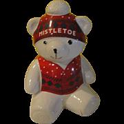 Marshall Field's Mistletoe Bear Cookie Jar - g