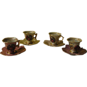 Messen Vienna 33/775 Leaf Saucers with Demitasse Cups - b144