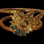 Wing Wrapped Rhinestone Clamp Bracelet - Free shipping