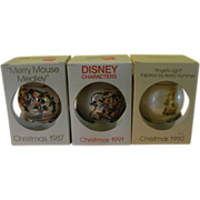 Disney and Angel Christmas Tree Ornaments in Box - b154