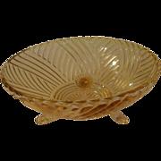 Pink Swirls Glass Bowl - b158