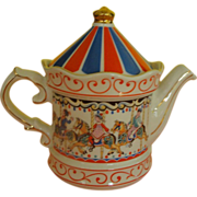 SOLD Sadler Edwardian Entertainment Carousel Tea Pot - b167