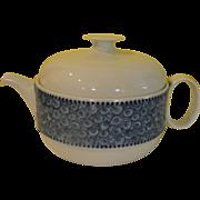 Rosenthal Modernist Nordic - Swirls and dots Cobalt Blue Tea Pot - b169