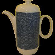 Rosenthal Modernist Nordic - Swirls and dots Cobalt Blue Coffee Pot - b169