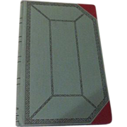 Blue and Red Bound 2-column Ledger Book - b62