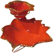 Orange Leaves Chip and Dip Set - g
