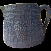 Short and Sweet Grapes on Trellis Robin Egg Blue Pitcher/jug - b174