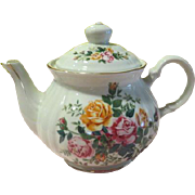 SOLD Robinson Design Group Rose in Bloom Tea Pot - b176