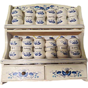 Blue Onion 12 Jar Spice Rack - b191