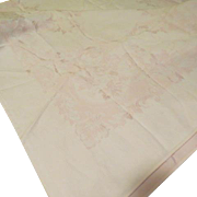 Pink on Pink Damask Tablecloth - L4