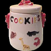 Animal Crackers American Bisque Cookie Jar