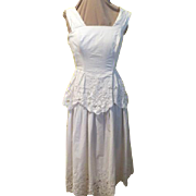 White on White Cutwork Sundress