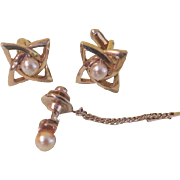 Celtic Knot Cuff Links with tie Tac - free shipping