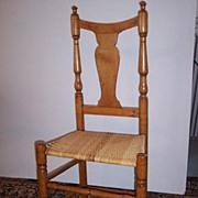 American Maple Splat Back Side Chair  Ca.1790