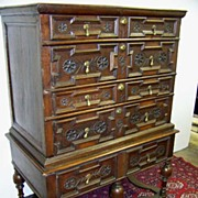 REDUCED Extraordinary William and Mary Period High Boy Chest on Stand Ca. 1690