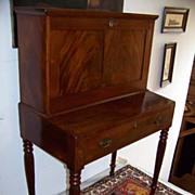 SALE Period Sheraton Empire Mahogany Drop-Front Desk Ca. 1820