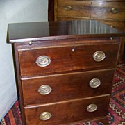 Rare American Period Hepplewhite Small Chest of Drawers. Ca. 1790