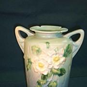 SALE Roseville White-rose Vase  988-10