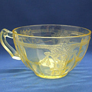 SOLD Hocking Cameo Yellow Depression Glass Cup - Red Tag Sale Item