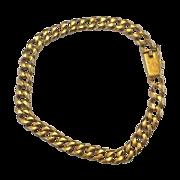 18K Yellow Gold Curb Chain Link Heavy Bracelet