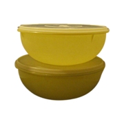 Tupperware Yellow Fix-N-Mix Bowl With Lid