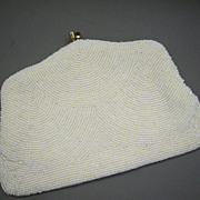 White Beaded Bags by Debbie Evening Bag Clutch