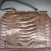 Brown Lizard Skin Handbag Sterling USA