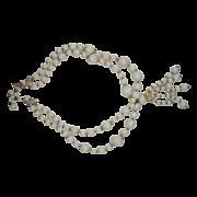 Japan White Plastic Bead Tassel Necklace
