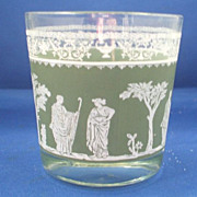 REDUCED Jeannette Hellenic Green Old Fashioned Tumbler