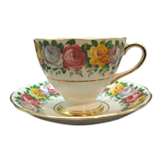 REDUCED Gladstone Rosemary Bright Roses Cup & Saucer