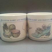 REDUCED Peter Rabbit Melmac Child Cups Pair Eden