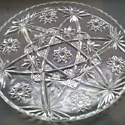 """SOLD Early American Prescut 11"""" Swirl Divider 4 Part Relish"""