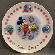 REDUCED Mickey Mouse Mother's Day Plate 1974
