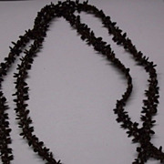 Hawaiian Koa Seed Brown Necklace 1960s