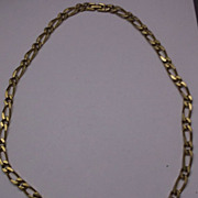 "SALE Monet 26"" Gold Tone Flat Heavy Figaro Chain Necklace"