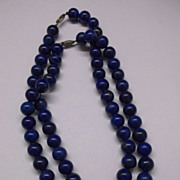 Lapis Lazuli Choker Asian Middle East Deep Blue Large Beads