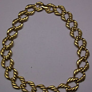 Napier Chunky Gold Tone Chain Choker 1980s