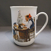 "Norman Rockwell ""A Good Boy"" Porcelain Mug"