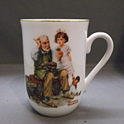 "Norman Rockwell ""The Cobbler"" Porcelain Mug"