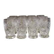 REDUCED Fostoria Arvida Cut Flat Juice Glasses Set of 12